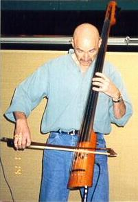 Tony Levin playing upright bowed bass